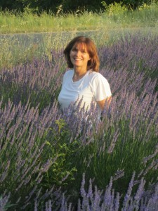 Fiona in Provence lavender field